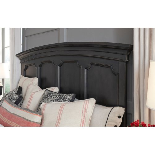 Townsend Arched Panel Bed w/Storage Footboard, King 6/6