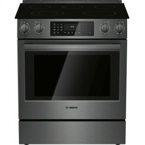Bosch800 Series Electric Slide-in Range 30'' black inox HEI8046U