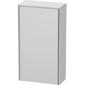 Semi-tall Cabinet, White Satin Matt Lacquer