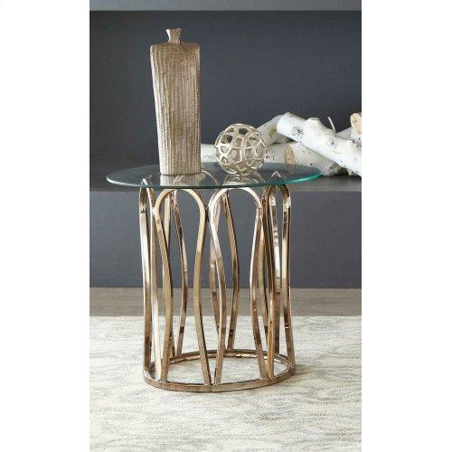 Modern Chocolate Chrome End Table