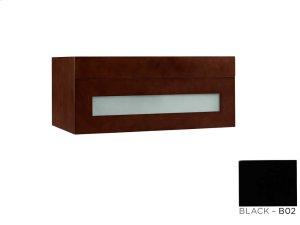 "Rebecca 31"" Wall Mount Bathroom Vanity Base Cabinet in Black Product Image"
