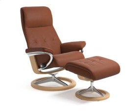 Stressless Sky Medium Signature Base Chair and Ottoman