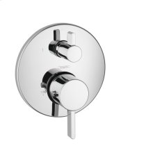 Chrome Thermostatic Trim S with Volume Control