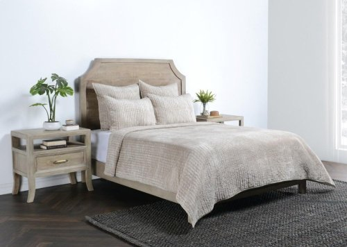 Bari Velvet Pebble King Quilt 108X96