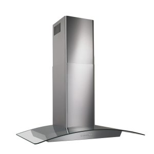 BroanBroan(R) 30-Inch Curved Glass Canopy Wall-Mount Range Hood w/ Heat Sentry , 500 CFM, Stainless Steel