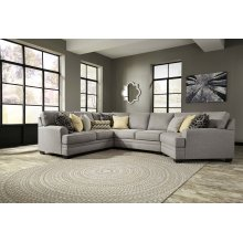 Cresson - Pewter Armless Loveseat, Left Loveseat, Right Cuddler, Wedge