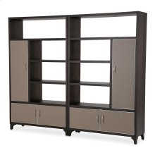 2 Piece Bookcase Unit