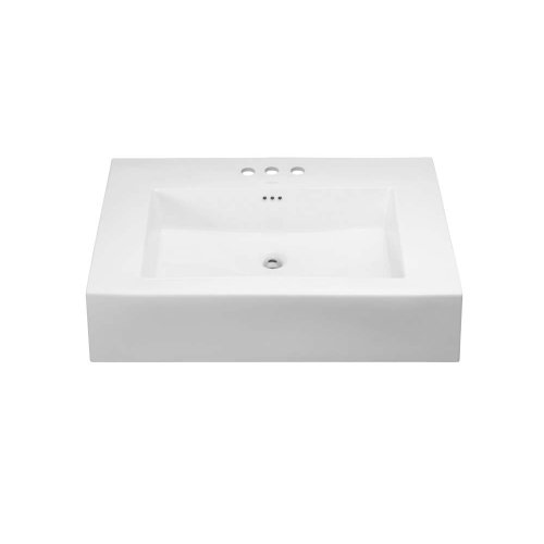"Prominent™ 32"" Ceramic Sinktop with 8"" Widespread Faucet Hole in White"
