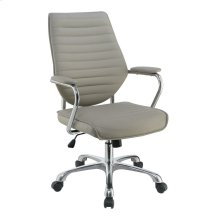 Contemporary Taupe High-back Office Chair