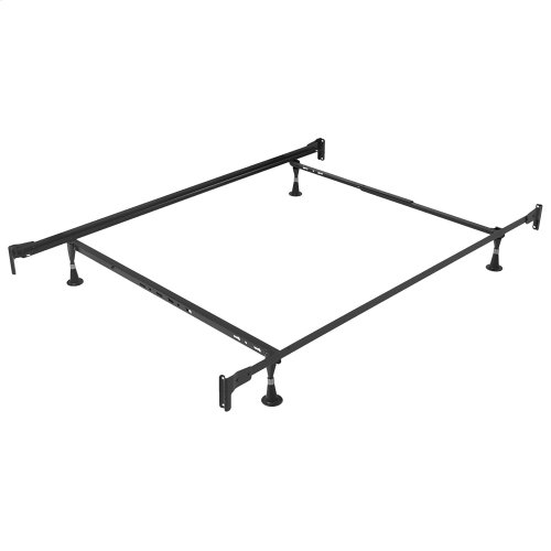 Engineered Adjustable PL834G Bed Frame with Fixed Head & Food Panel Brackets and (4) Glide Legs, Twin - Full