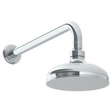"""Wall Mounted Showerhead, 6""""dia, With 14"""" Arm and Flange"""