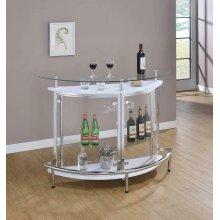 Glass and Chrome Bar Unit
