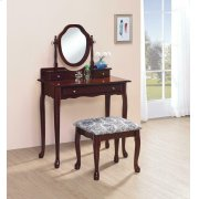 Traditional Brown-red Vanity Set Product Image