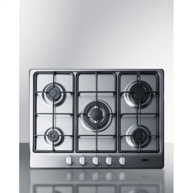 "Summit 27"" Wide 5-burner Gas Cooktop"