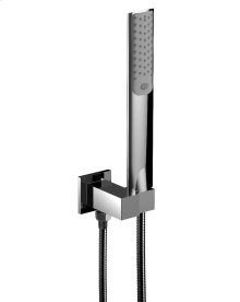 Hand Shower Set With Adjustable Bracket and Outlet in Polished Chrome