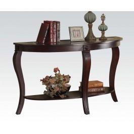 Oval Sofa Table W/gl Top @n Hidden