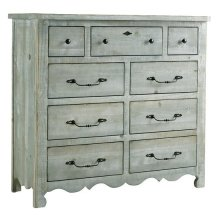 Tall Dresser - Mint Finish