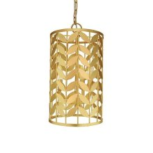 Leaf Motif Pendant In Gold Leaf