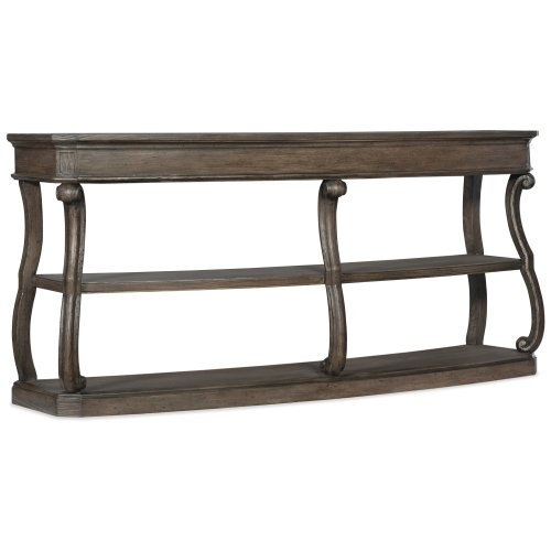 Living Room Woodlands Curved Console Table