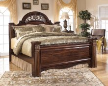 Gabriela - Dark Reddish Brown 3 Piece Bed Set (King)