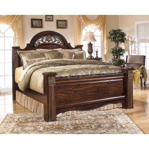 Ashley Furniture Gabriela - Dark Reddish Brown 3 Piece Bed Set (King)