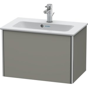 Vanity Unit Wall-mounted Compact, Stone Gray Satin Matt Lacquer