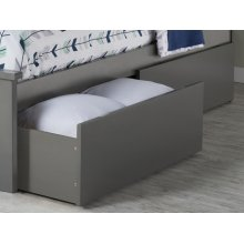 Two Urban Bed Drawers Queen/King in Atlantic Grey