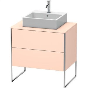 Vanity Unit For Console Floorstanding, Apricot Pearl Satin Matt Lacquer