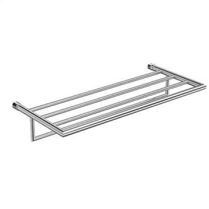 "Polished Chrome 24"" Hotel Shelf Frame with Towel Bar"