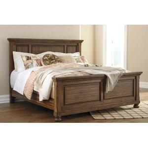 Ashley Furniture Flynnter - Medium Brown 3 Piece Bed Set (Cal King)
