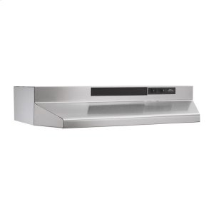 30-Inch Convertible Under Cabinet Range Hood with Light in Stainless Steel with EZ1 installation system - STAINLESS STEEL