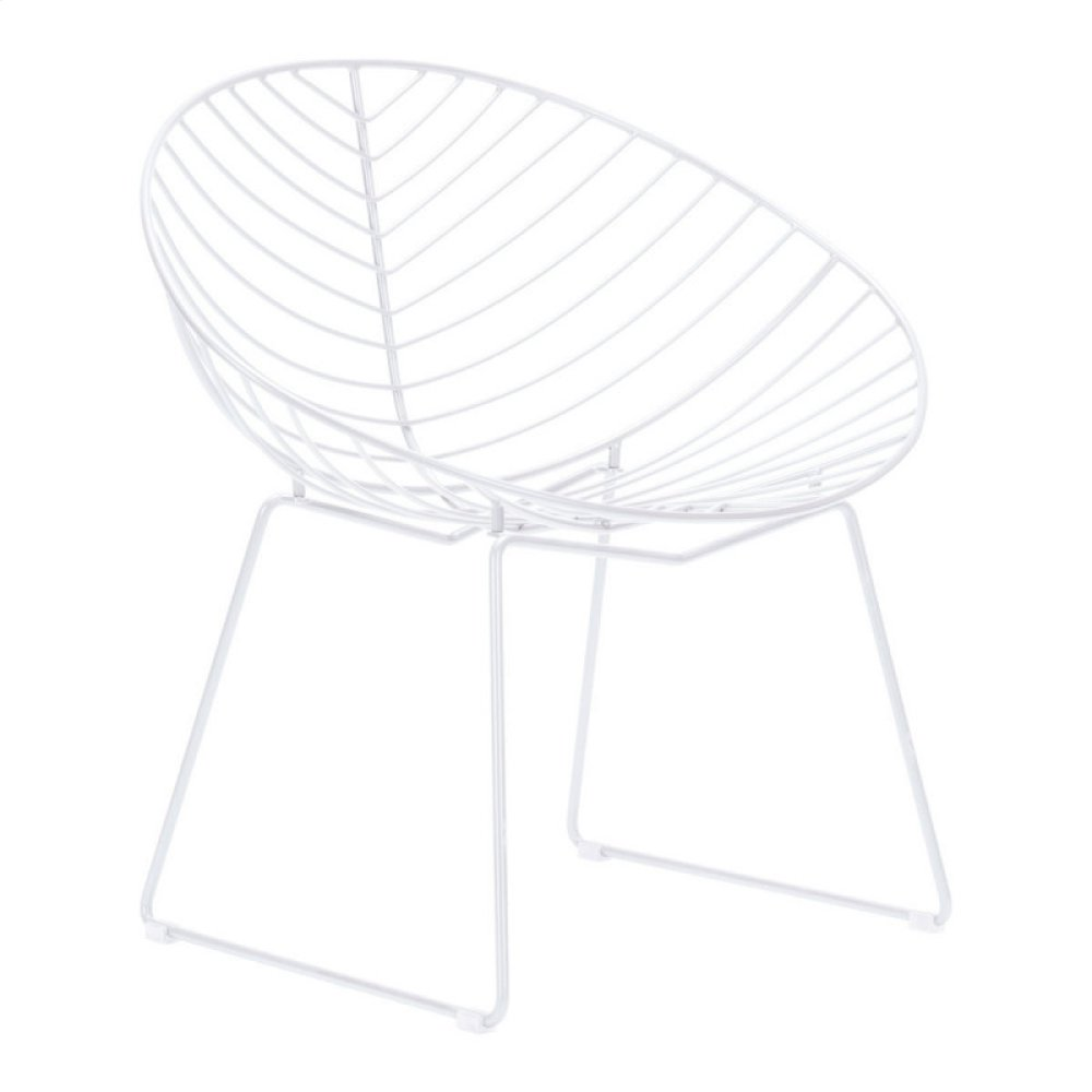 Hyde Outdoor Lounge Chair White