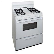 30 in. Freestanding Sealed Burner Gas Range in White