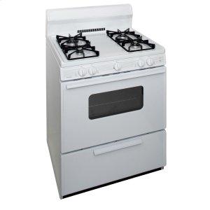 Premier30 in. Freestanding Sealed Burner Gas Range in White