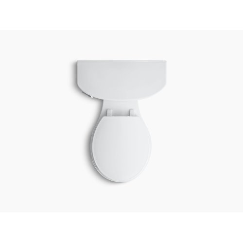 White Comfort Height Two-piece Round-front 1.6 Gpf Toilet With Aquapiston Flush Technology and Left-hand Trip Lever, Seat Not Included