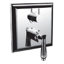 """7098dc-tm - 1/2"""" Thermostatic Trim With 3-way Diverter Trim (shared Function) in Polished Chrome"""