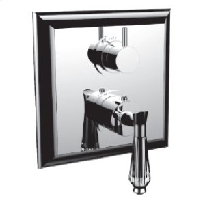 "7098dc-tm - 1/2"" Thermostatic Trim With 3-way Diverter Trim (shared Function) in Orobrass"