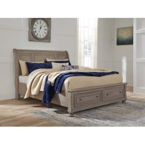 Ashley Furniture Lettner - Light Gray 3 Piece Bed Set (Cal King)