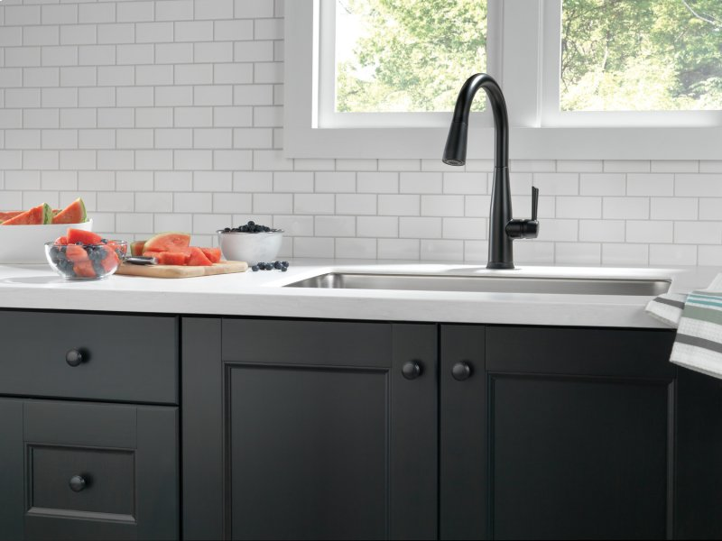 9113TBLDST in Matte Black by Delta Faucet Company in King of