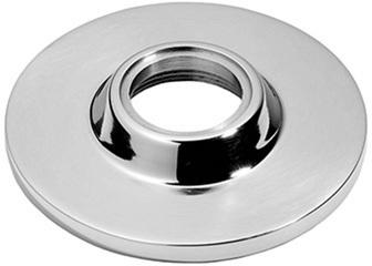 """Matt Black Chrome Concealed fix rose, 2 3/4"""" diameter"""