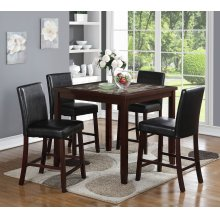 Alton 5 Pc Square Counter Height Pub Set