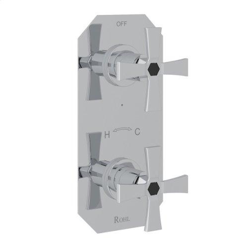 "Polished Chrome Bellia 1/2"" Thermostatic/Diverter Control Trim"