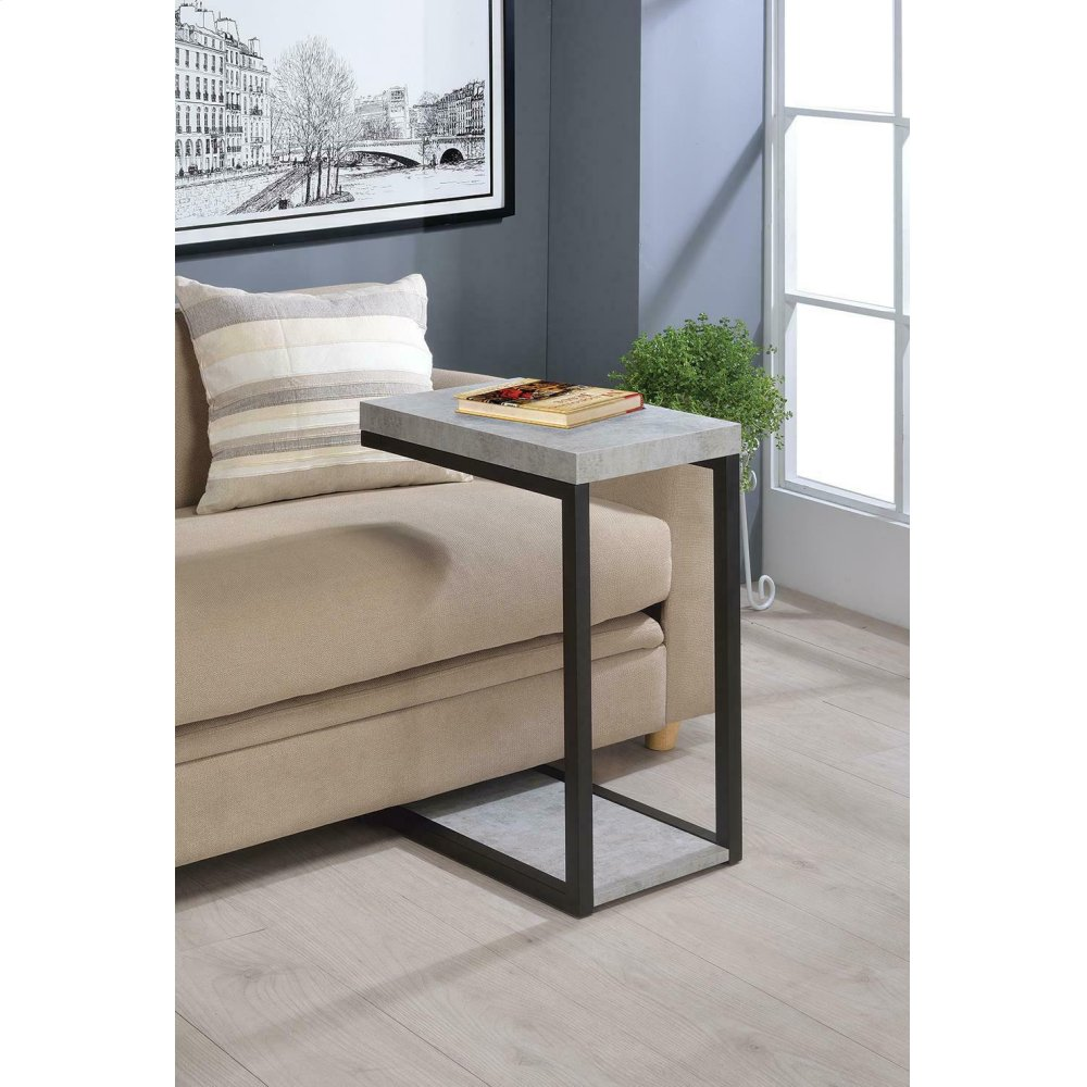Transitional Cement Snack Table