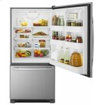 Amana 33-Inch Wide Bottom-Freezer Refrigerator With Easyfreezer Pull-Out Drawer - 22 Cu. Ft. Capacity - Stainless Steel