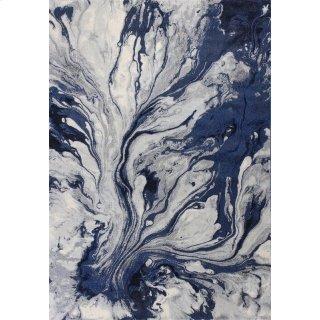 "Illusions 6201 Blue Watercolors 5'3"" X 7'7"""