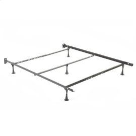 Restmore Adjustable PLQ45G Posi-lock Bed Frame with Fixed Headboard Brackets and (5) Leg Glide Legs, Powder Coat Finish, Full - Queen