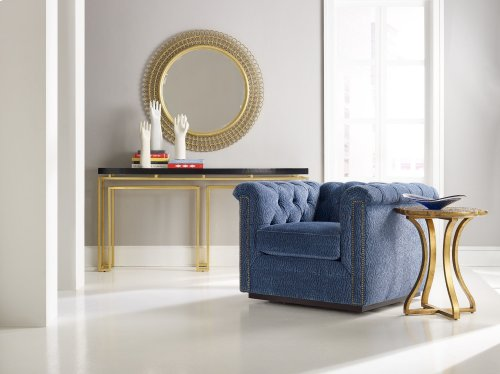 Living Room Gold Bois Round Accent Table