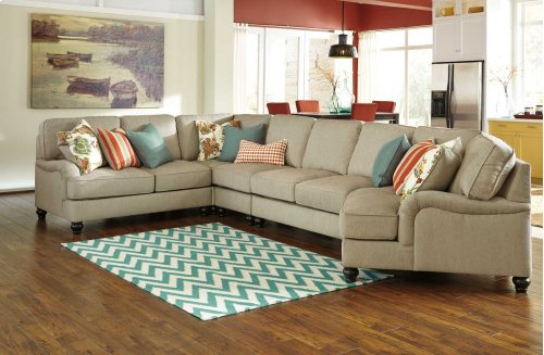 Kerridon 5-Pc Sectional LAF Loveseat, Armless Chair, Wedge, Armless Loveseat, and RAF Cuddler