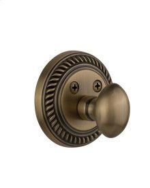 Nostalgic - Single Cylinder Deadbolt Keyed Differently - Rope in Antique Brass