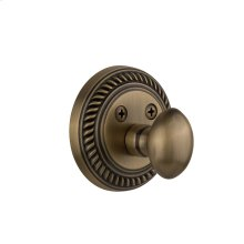 Nostalgic - Single Cylinder Deadbolt Keyed Differently - Rope in Antique Brass